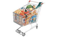 Grocery basket: $25